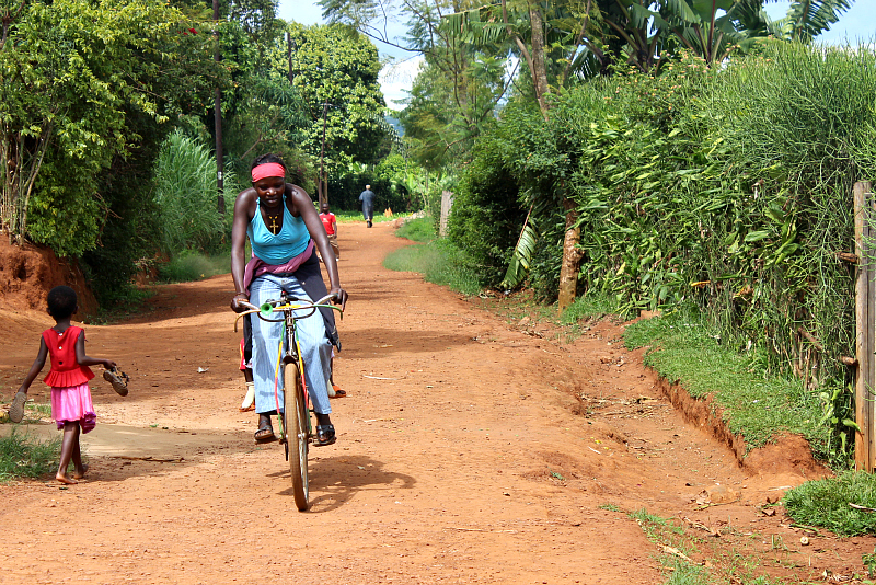 Image result for Rwanda women on bicycles