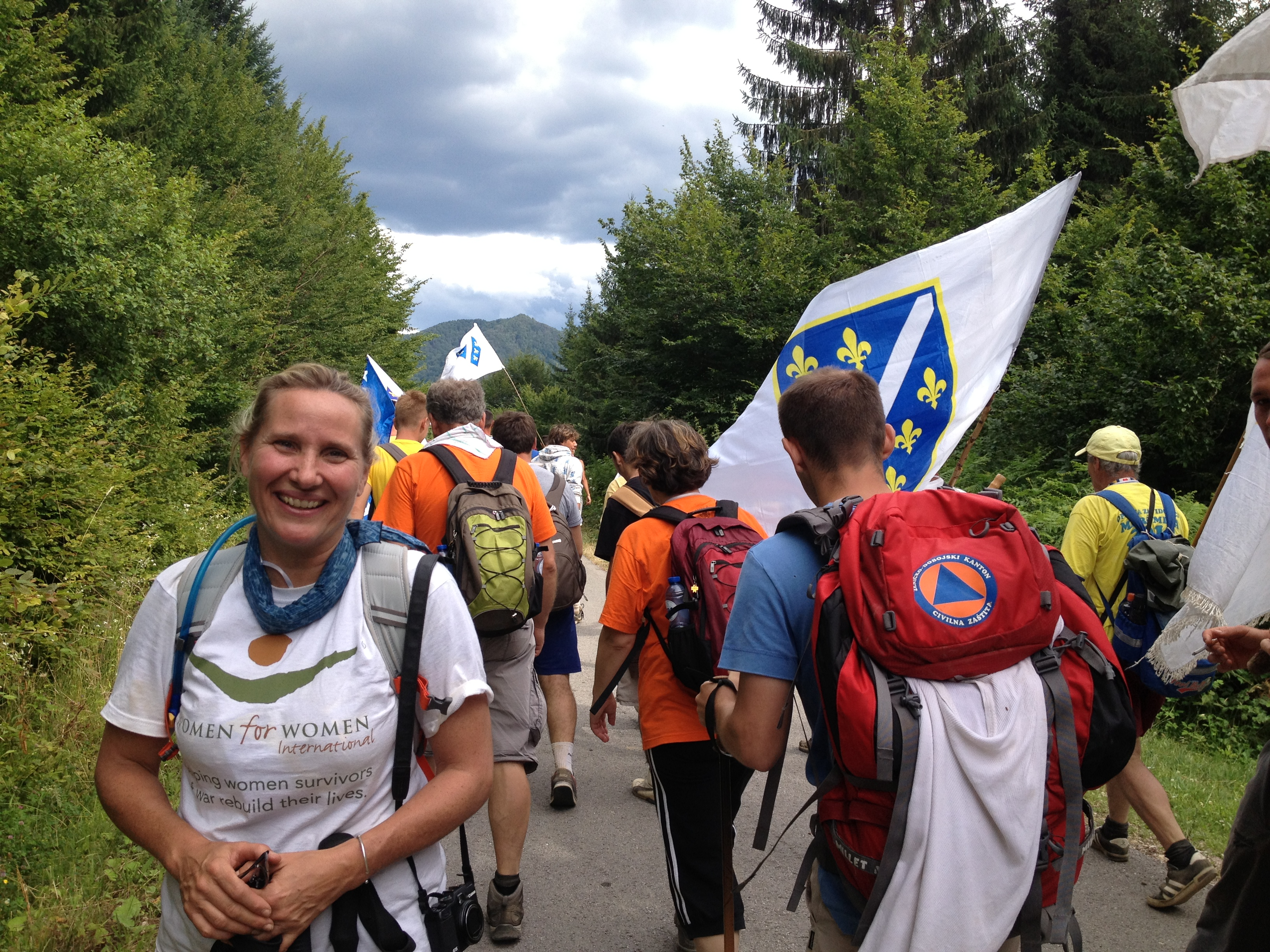 Tracy Craighead marked 75 miles to support women survivors of the war in Bosnia