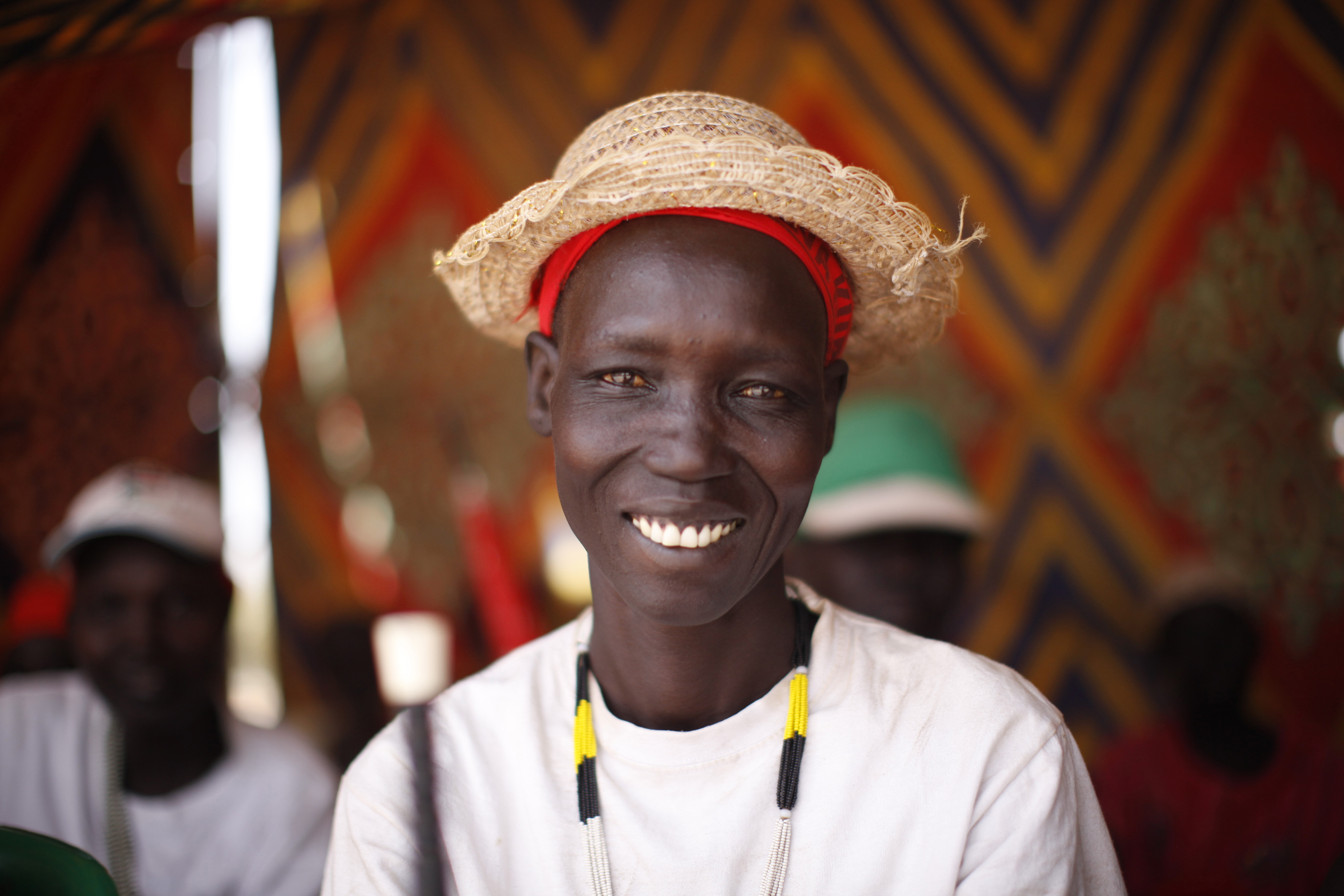 Program participant joins an International Women's Day celebration in South Sudan
