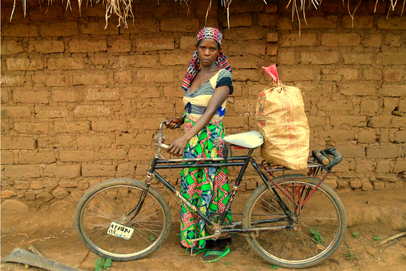 Mukunde is grateful for her bicycle
