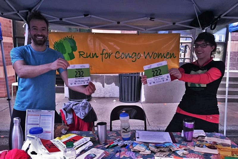 WfWI supporters run to raise funds for Congolese women