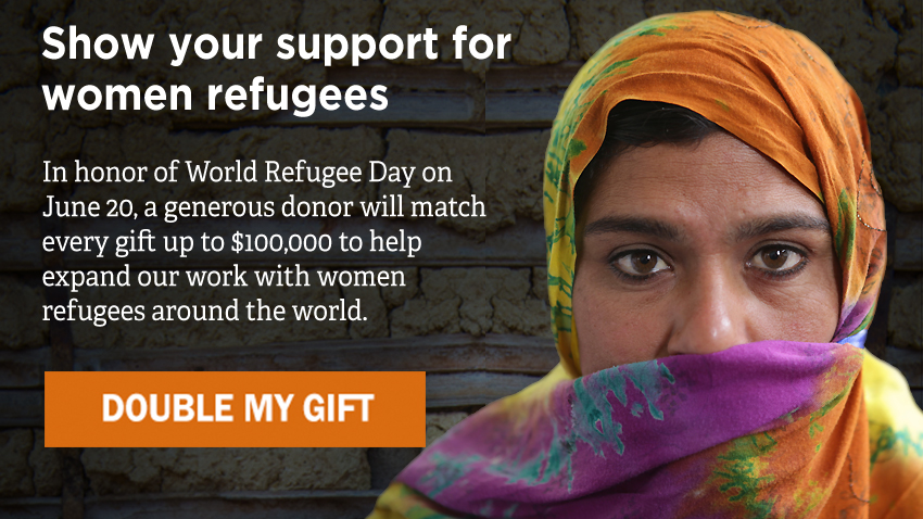 Show your support for women refugees - DOUBLE MY GIFT