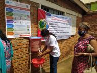 Because of the pre-existing risk of Ebola, places in the DRC have hand washing stations