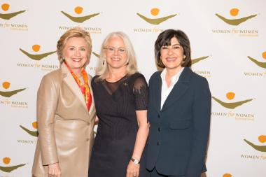 Hilary Clinton with others