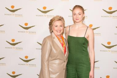 2017 luncheon - HRC and sophie turner