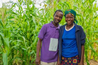 Mercy, a program participant from Nigeria, and her husband, Sirwanga, who went through the Men's Engagement Program