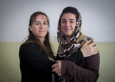 Sheiran and Kabira, Program Participants in Iraq. Photo credit: Alison Baskerville