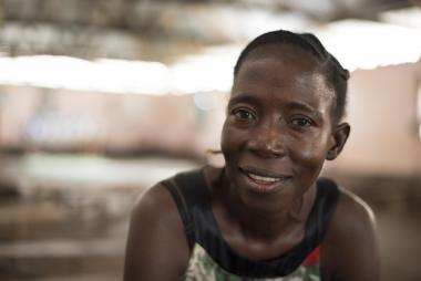 Pascalina from South Sudan smiles at the camera. Photo credit: Charles Atiki Lomodong