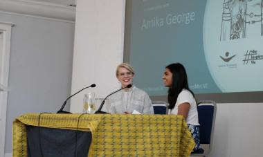 Amika George and Emma Gannon at Women for Women International's #SheINspiresMe Live Feminist Festival in 2018