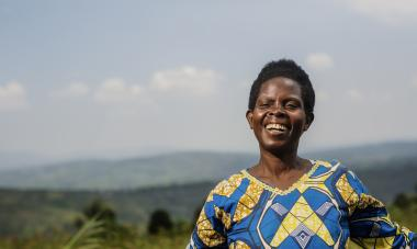 Francine, Program Participant in Rwanda. Photo credit: Serrah Galos