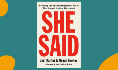 She Said by Jodi Kantor and Megan Twohey - Book Club Graphic