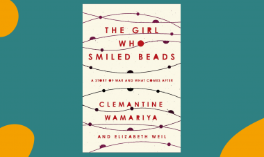 Book Club Banner - The Girl Who Smiled Beads by Clemantine Wamariya and Elizabeth Weil