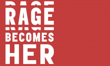 Hero image: Rage Becomes Her in stylized text over red with #WFWIBookClub in the corner
