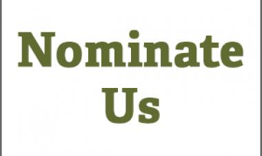 "text that says: ""nominate us"""