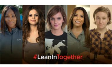 collage of women with text #leanintogether