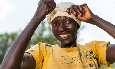 South Sudan Woman Smiling 2015