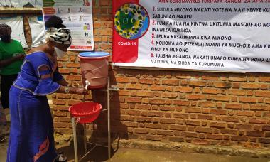 Handwashing stations in the DRC during COVID-19