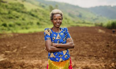 Rwanda - woman crossing arms smiling