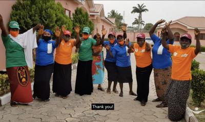 Change Agents in Nigeria, cheering in celebration