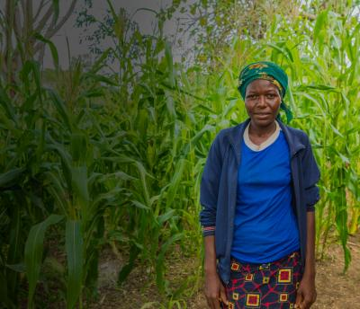 Nigerian woman in field